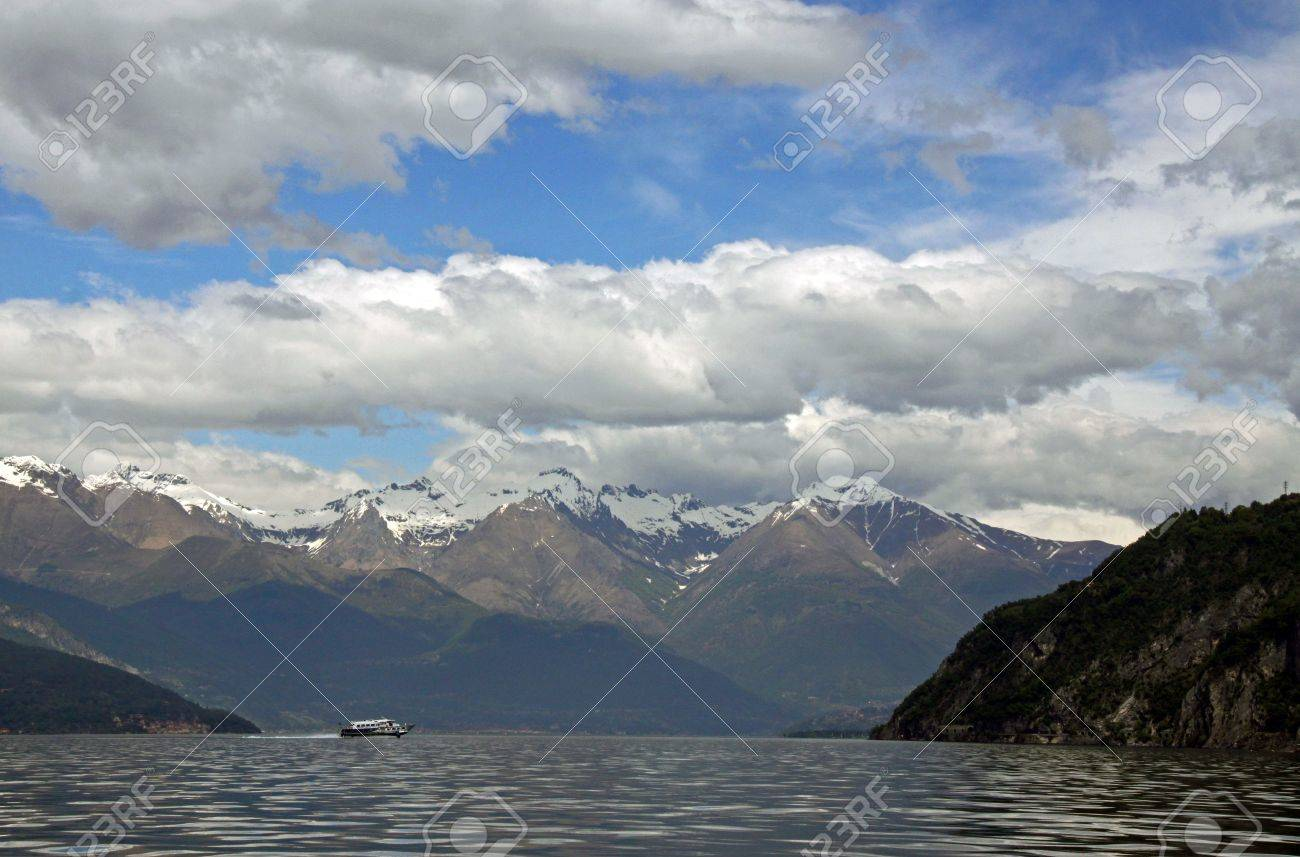 View of Treviso mountains and Lake Como in Italy Stock Photo - 7092853