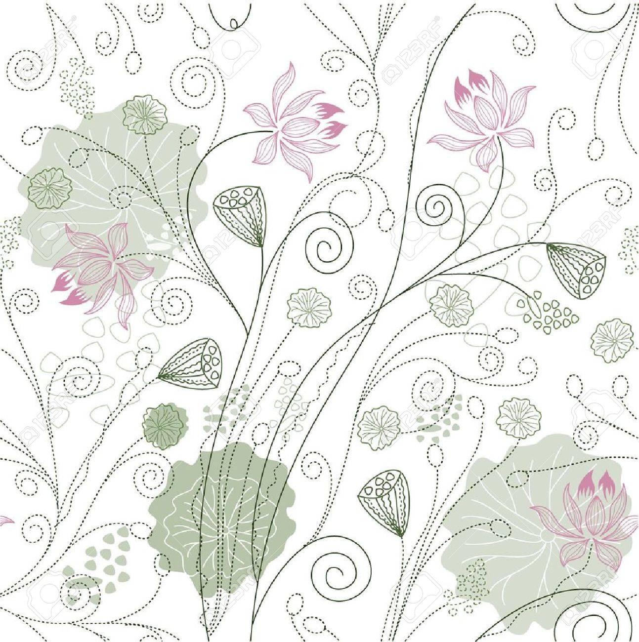 Yoga pattern background seamless pattern with five petals lotus flower - Lotus Shape Lotus Flower Pattern
