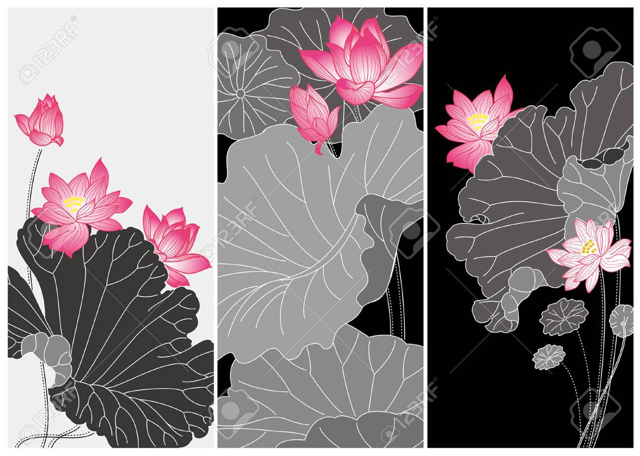 lotus flower card royalty free cliparts vectors and stock