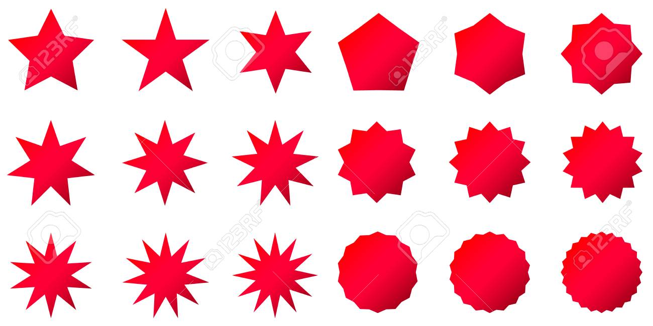 Star Shapes Clipart - Star Shapes Clipart - Free Transparent PNG Clipart  Images Download