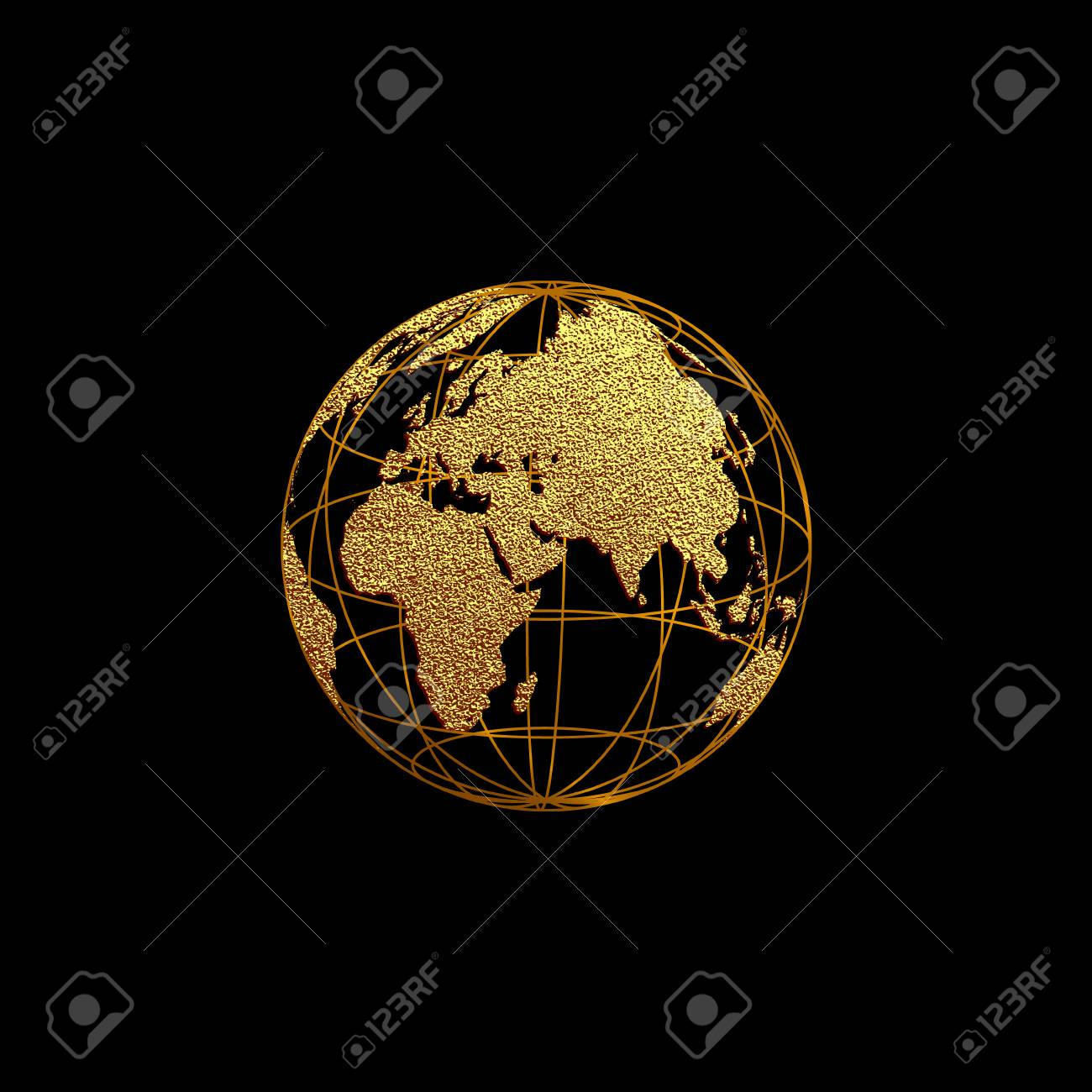 creative gold map of the world vector illustration golden template