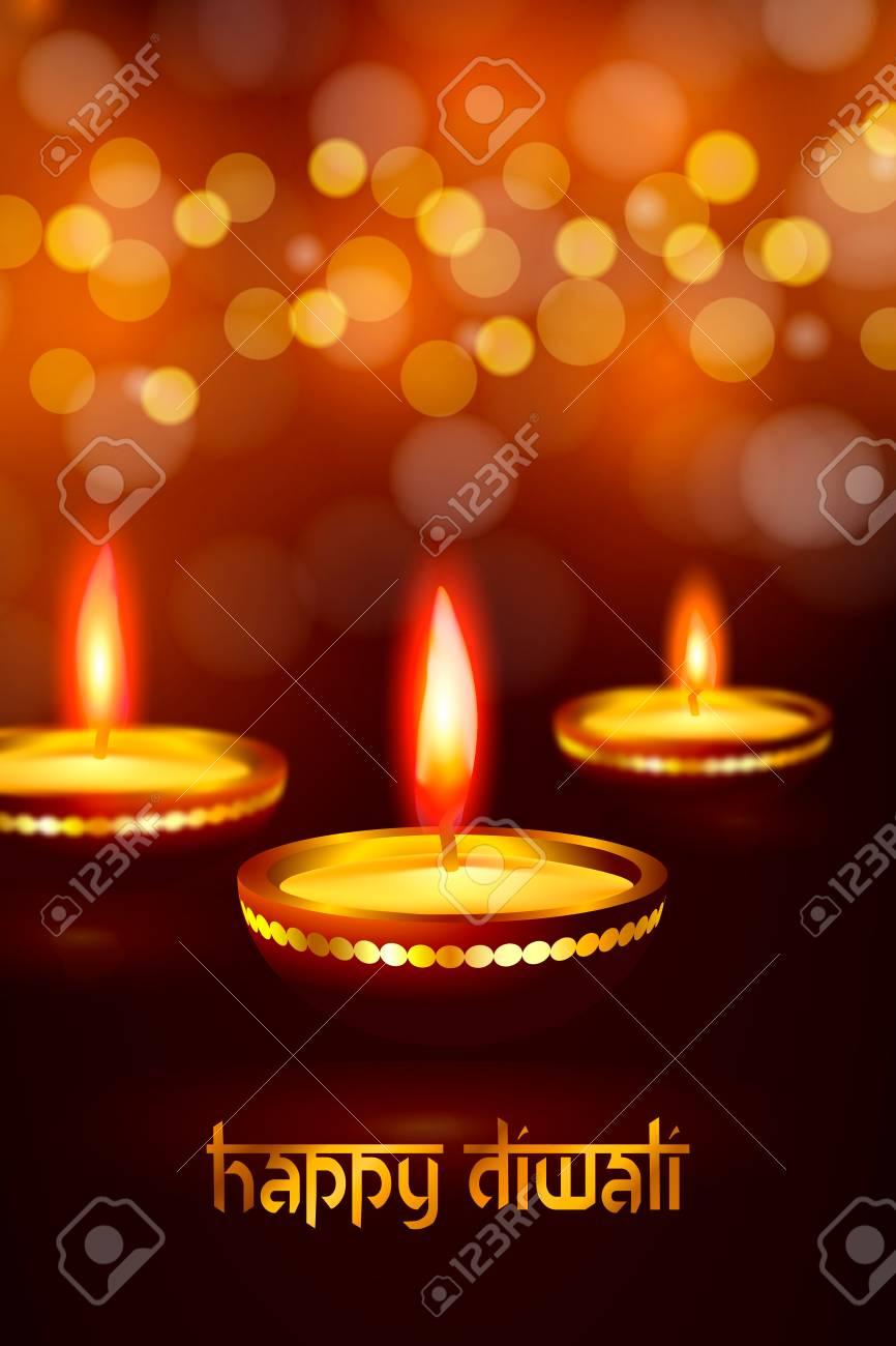 Greeting Card For Indian Deepavali Hindu Festival Happy Diwali
