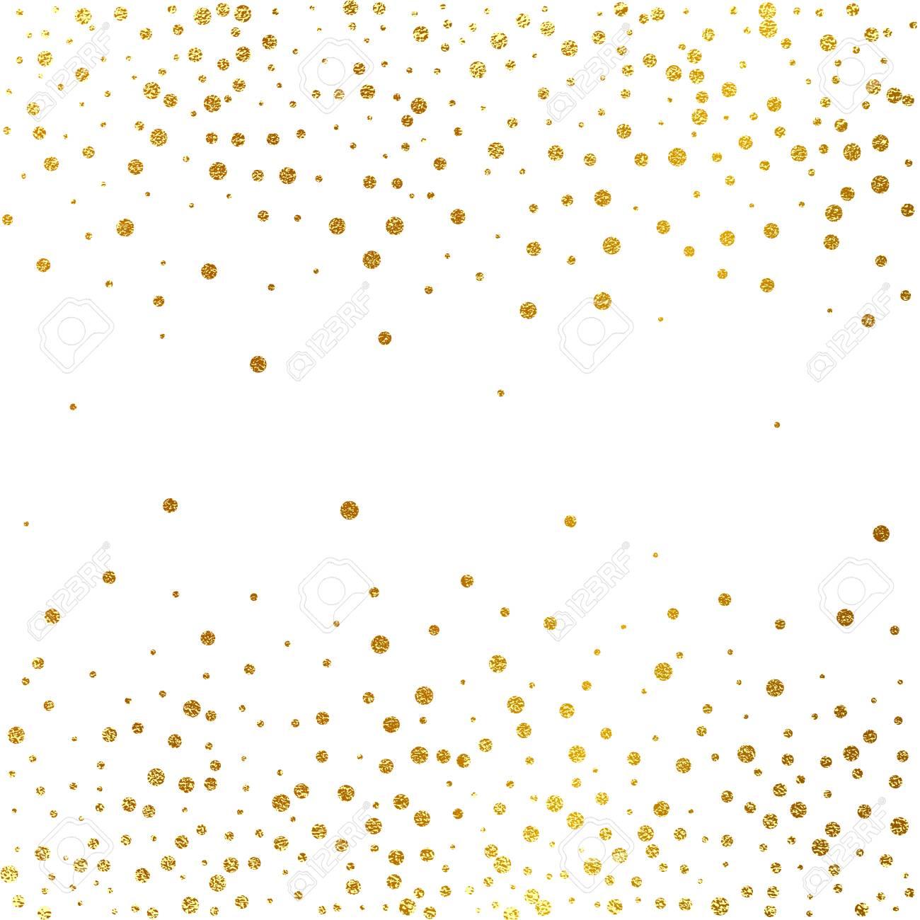 Festive Explosion Of Confetti Gold Glitter Background Golden