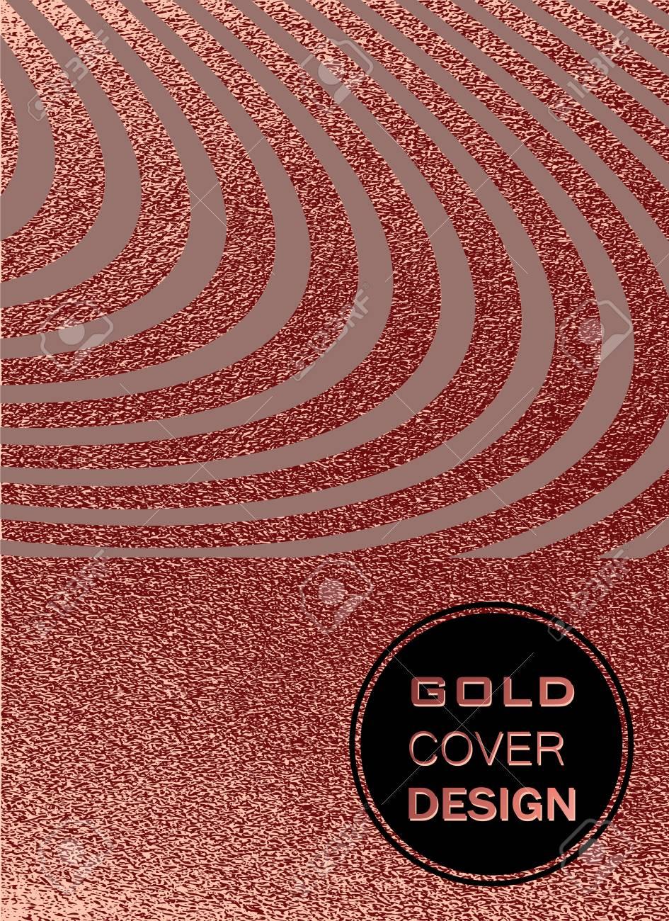 rose quartz glossy background metallic texture gold pink metal