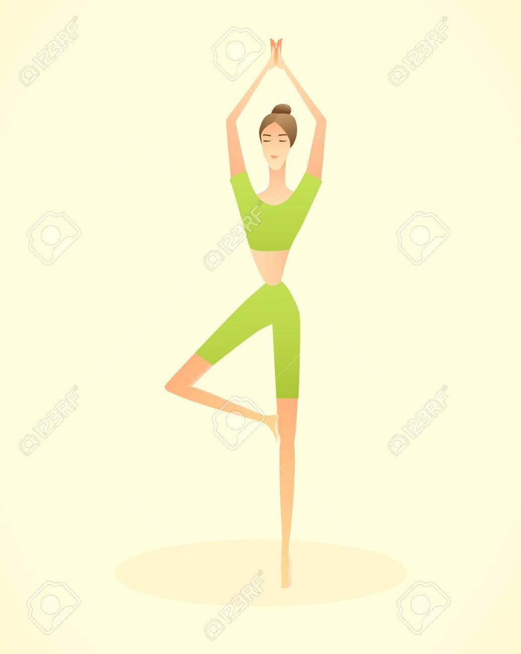Foto de archivo - Ilustración de vector de una silueta de una mujer.  belleza y salud fcfe7b959164