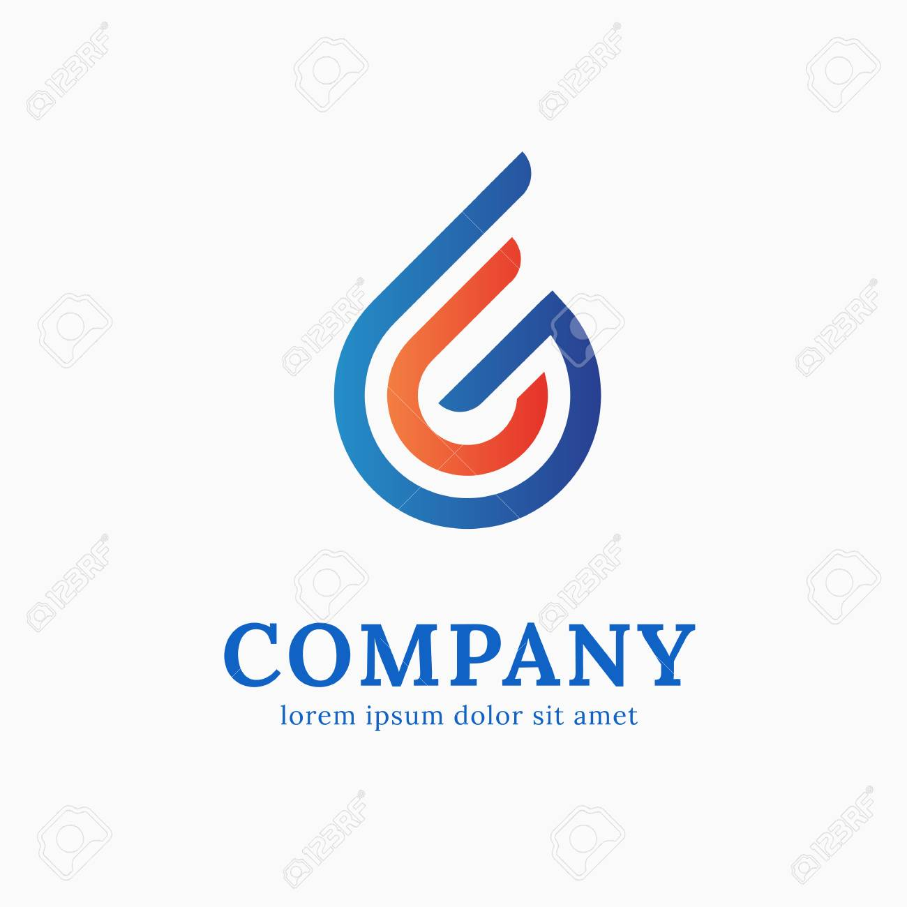 illustration design of simple geometry business flat symbol royalty