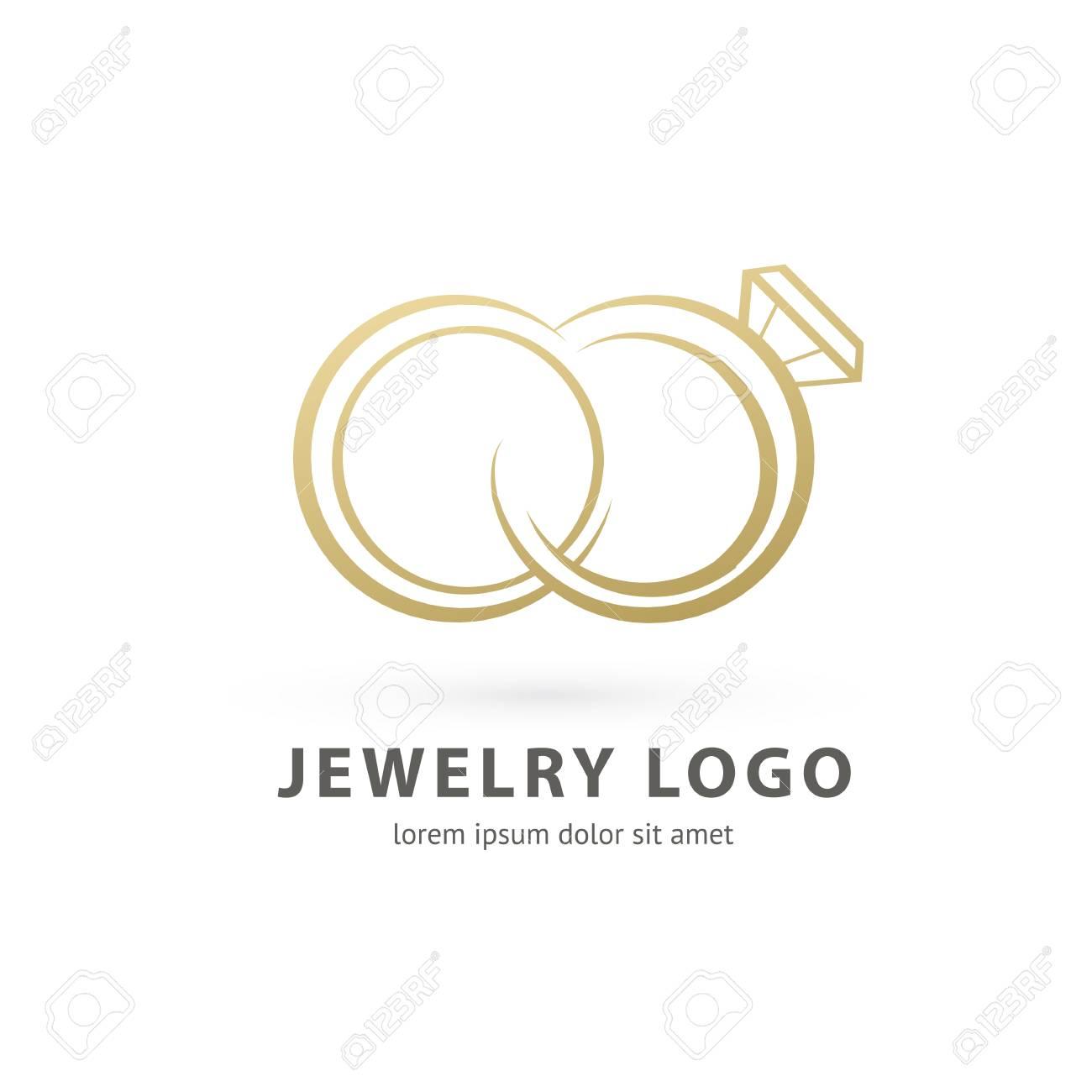 Illustration design of logotype business luxury jewelry symbol. Vector diamond ring web icon. - 101616038