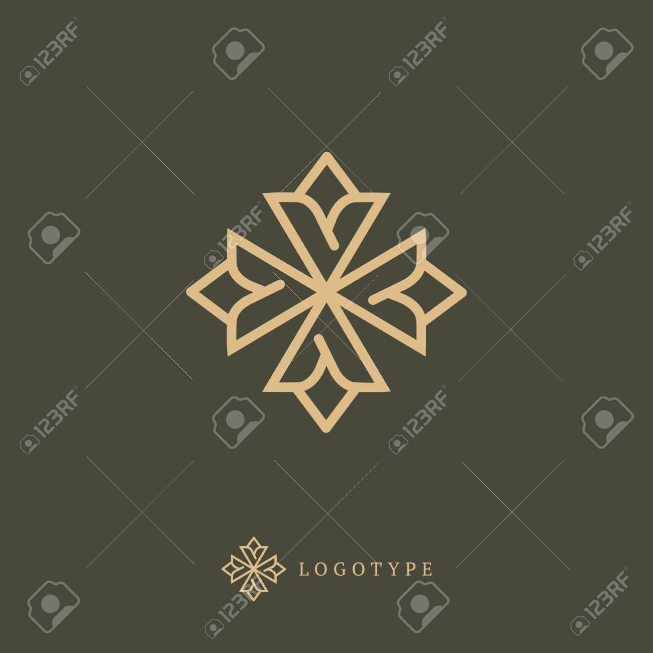 Emblem luxury beauty spa, cosmetics, jewerly, hotel, restaurant Wedding elegant outline frame - 106347051