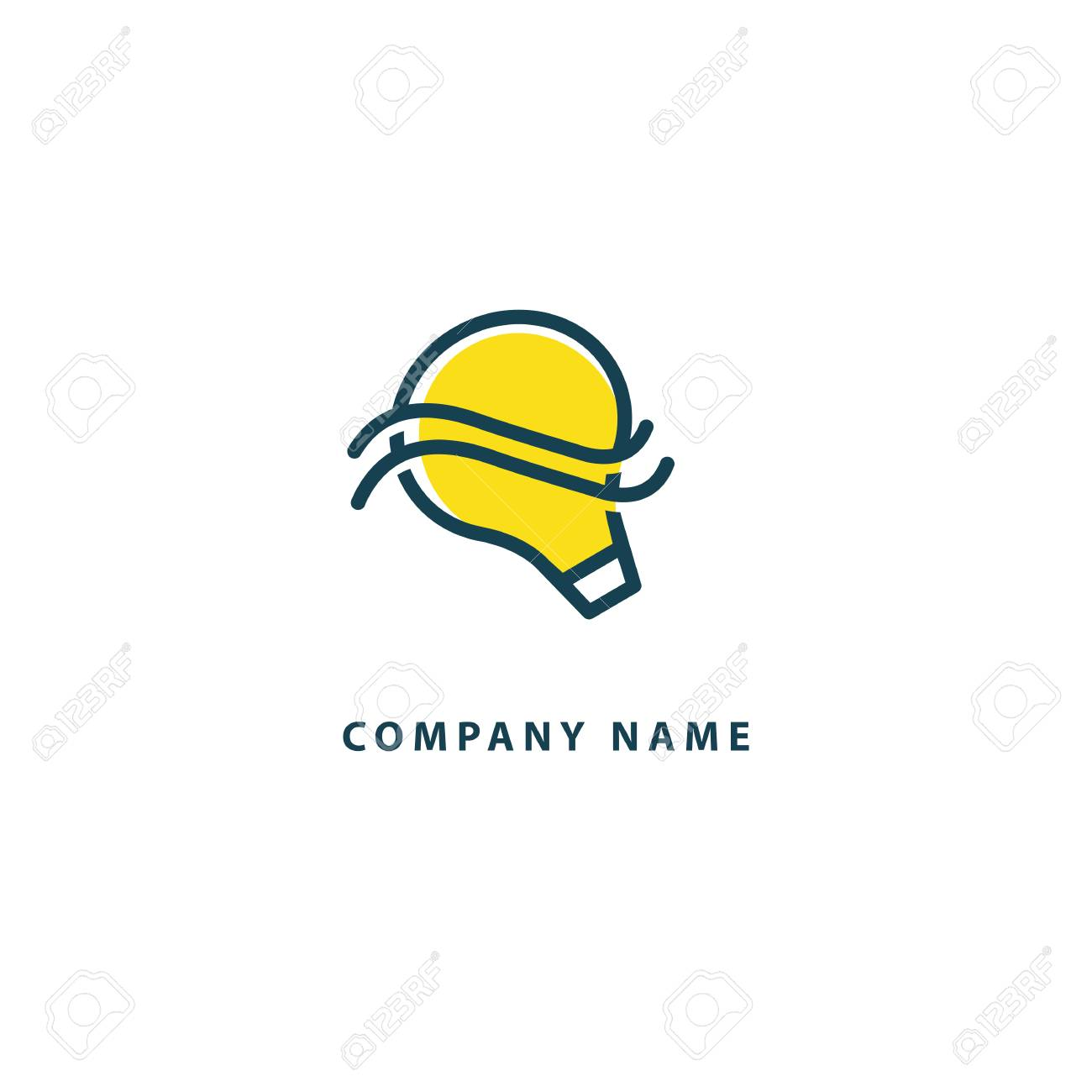 idea minimalistic vector logo vector lamp template lamp icon