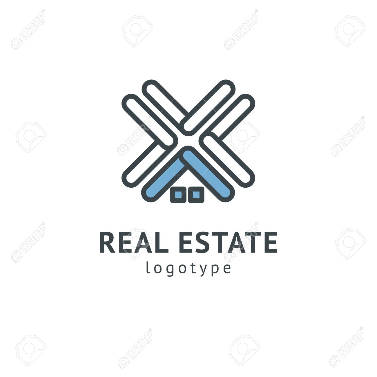 Abstract real estate agent logo icon vector design  Rent, sale