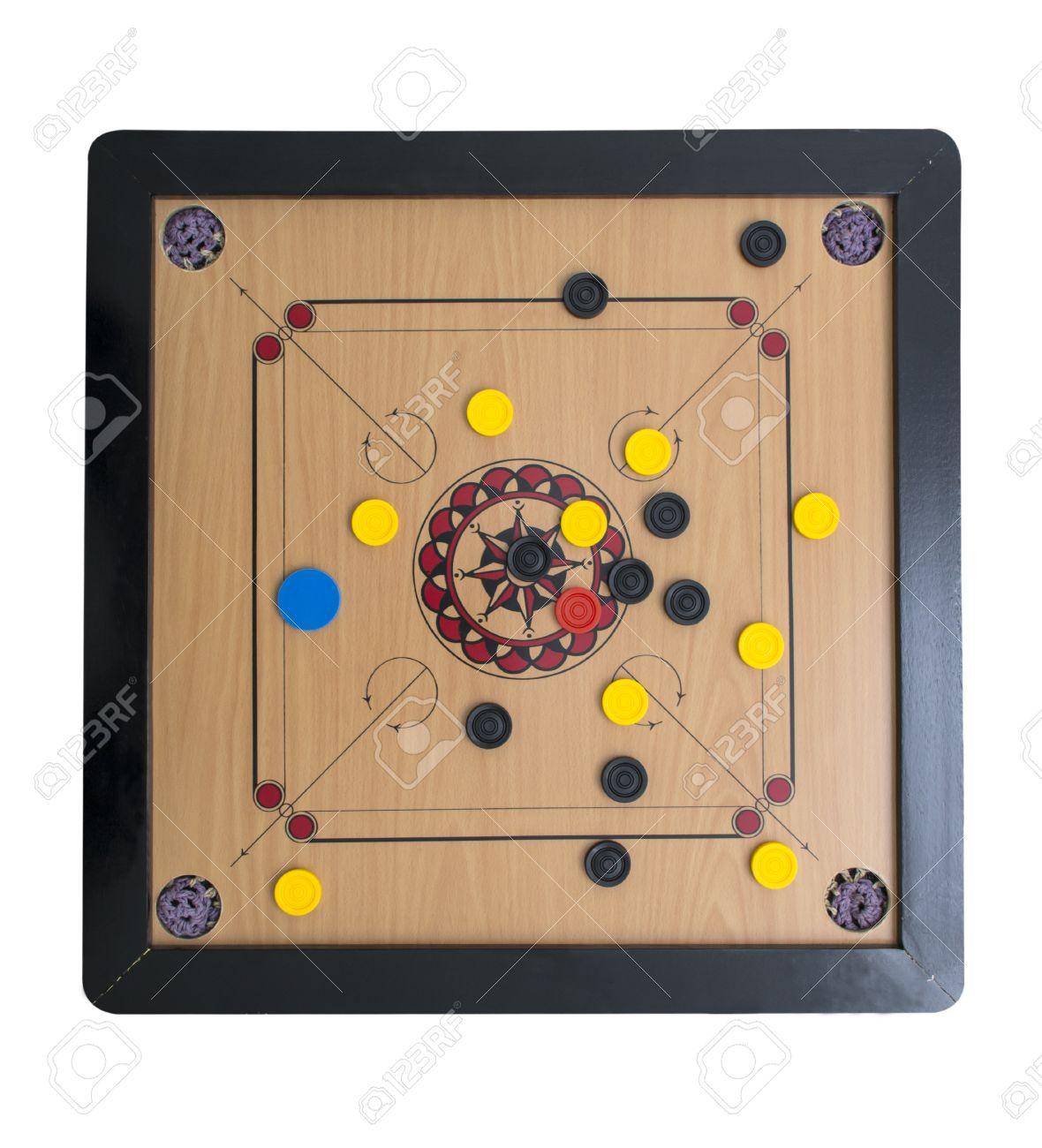 Carrom Board Game From Upper Side Stock Photo Picture And Royalty Free Image Image 20645173