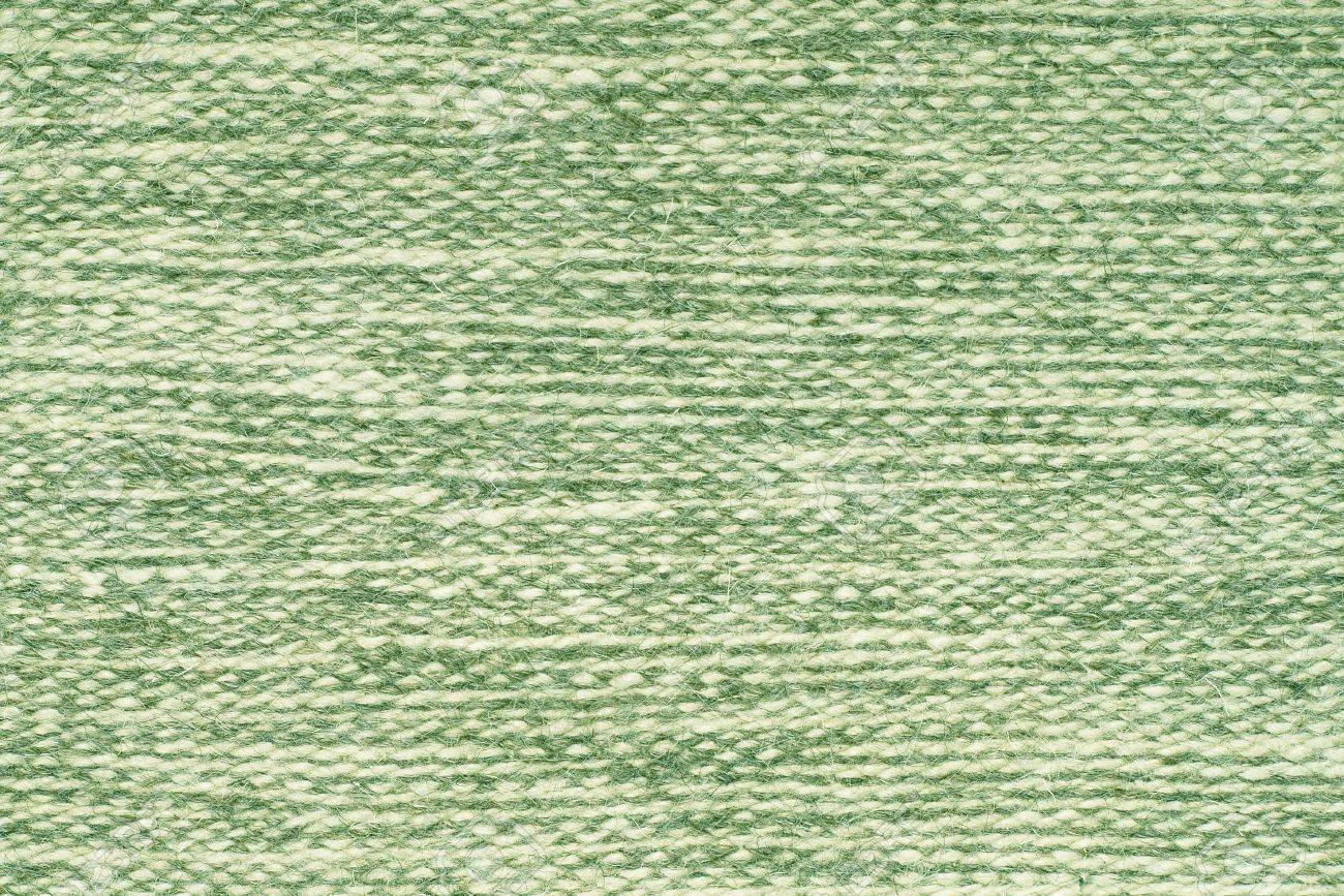 The Green Wool Fabric Texture as Background. Stock Photo - 10905703