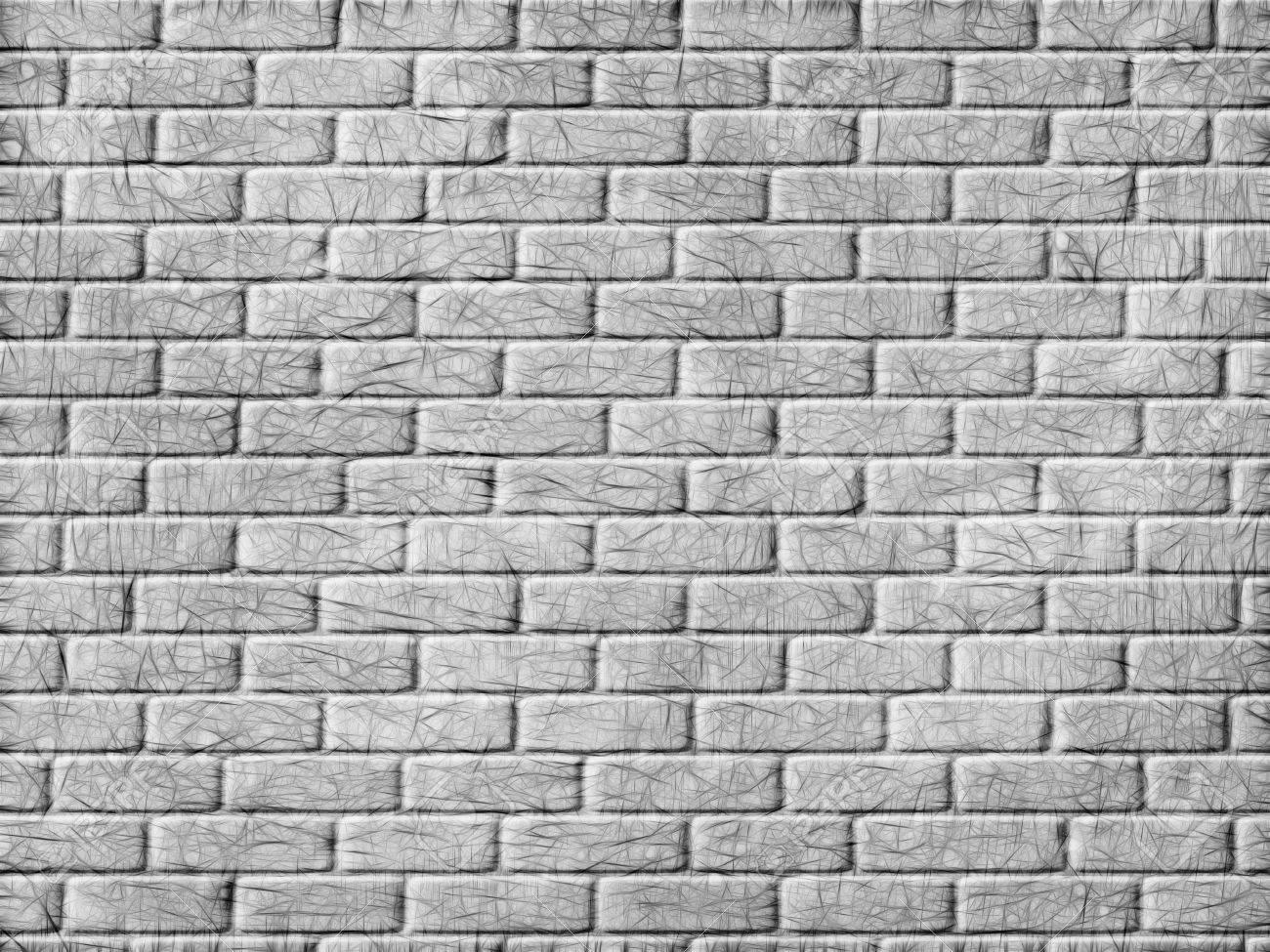 Monochrome brick wall background  Digitally generated image Stock Photo - 23445090