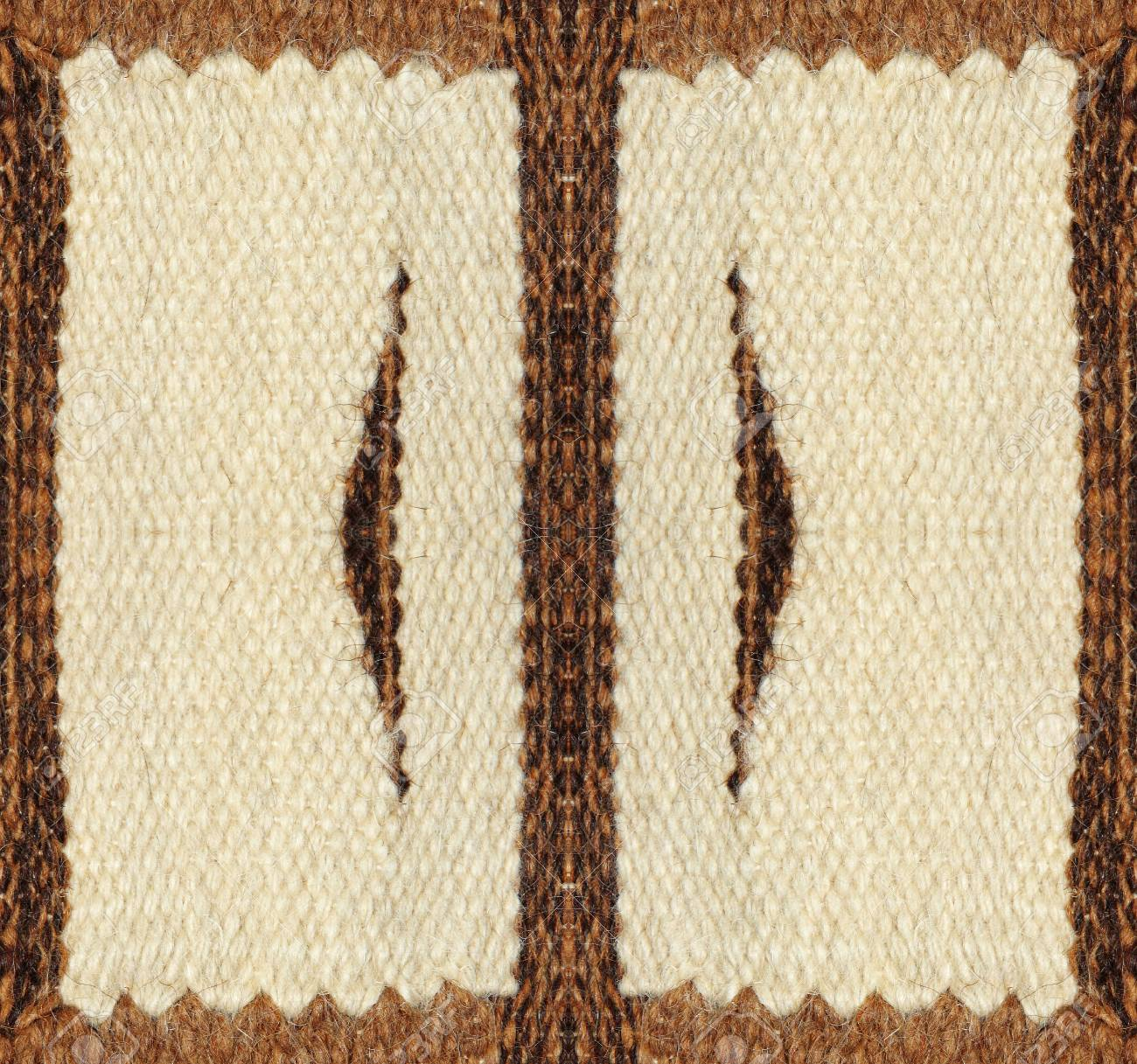 Camel Wool Fabric Texture Pattern As Abstract Symmetrical Background ...