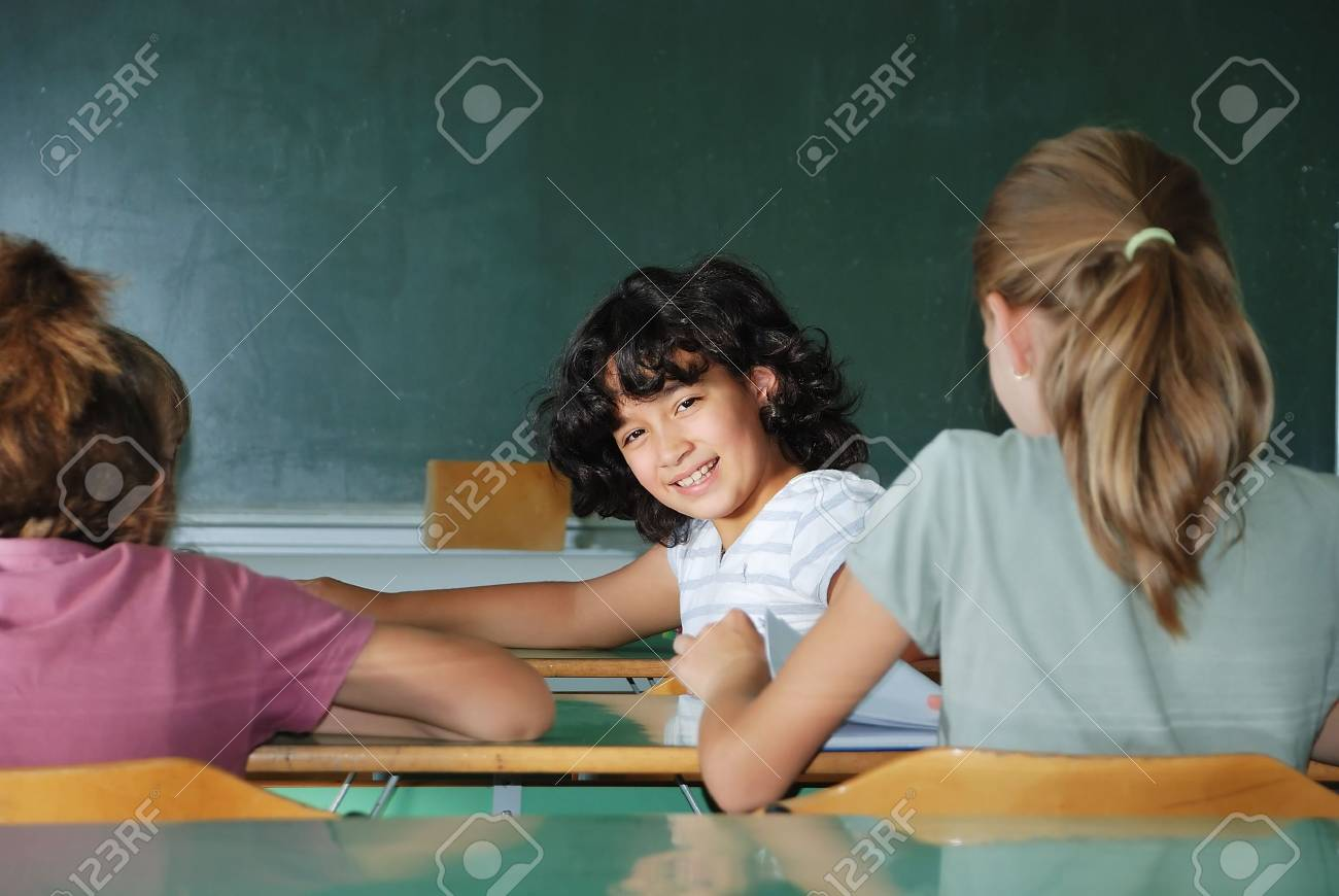 Pupil activities in the classroom at school Stock Photo - 5274212