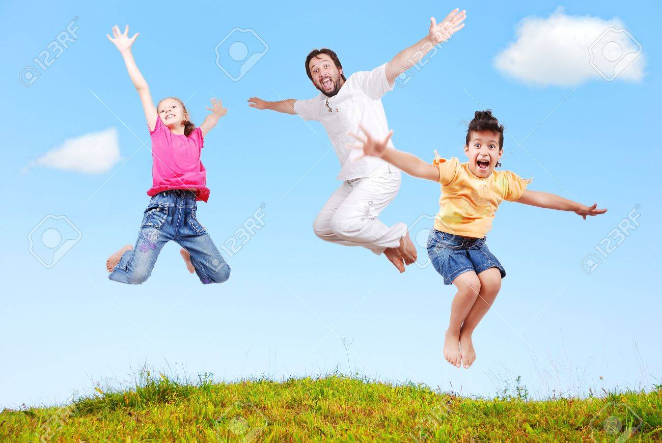 Family happiness outdoor in beautiful natural scene Stock Photo - 5289160
