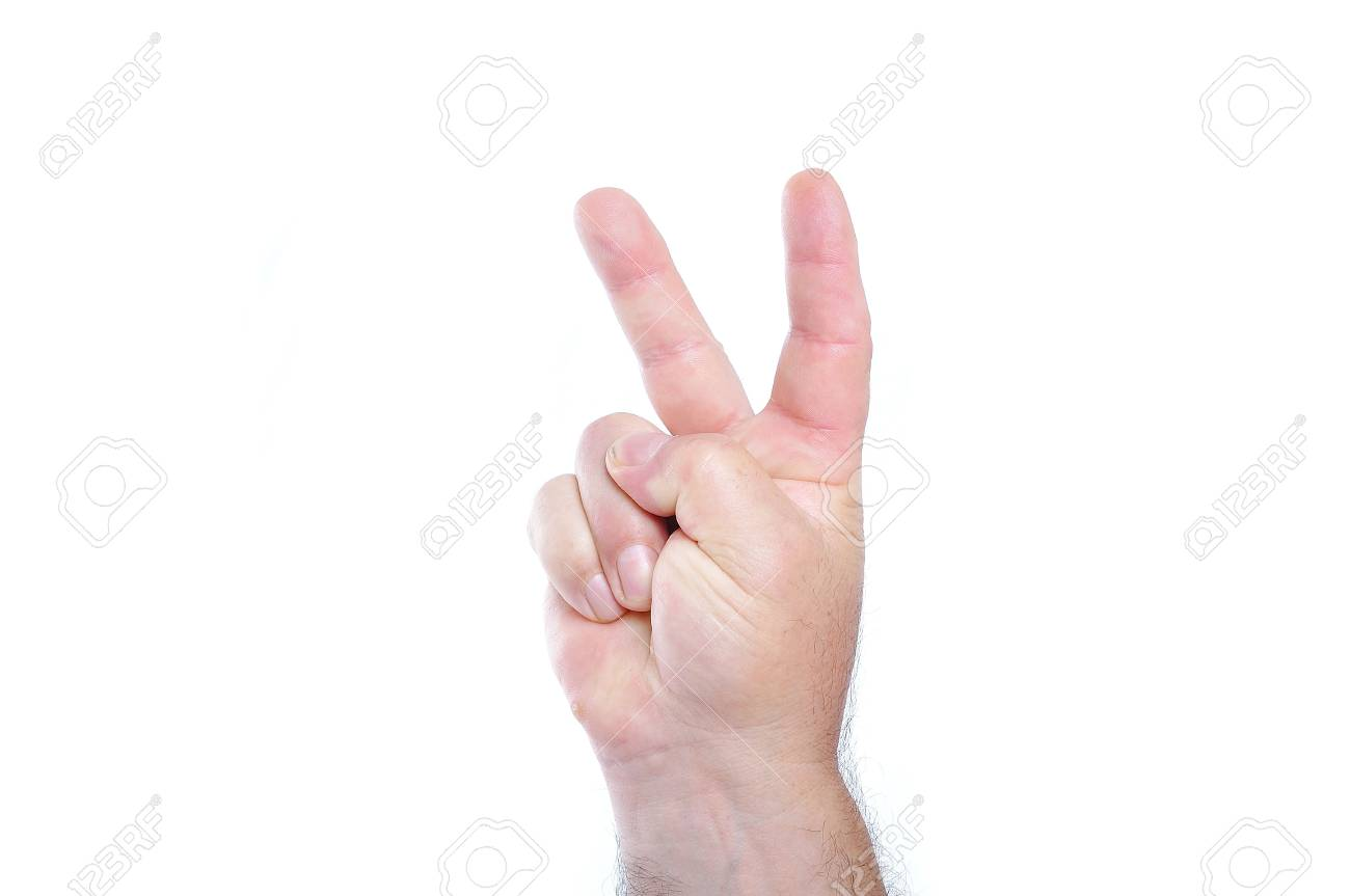 A male fist on white isolated background, number Stock Photo - 5730818