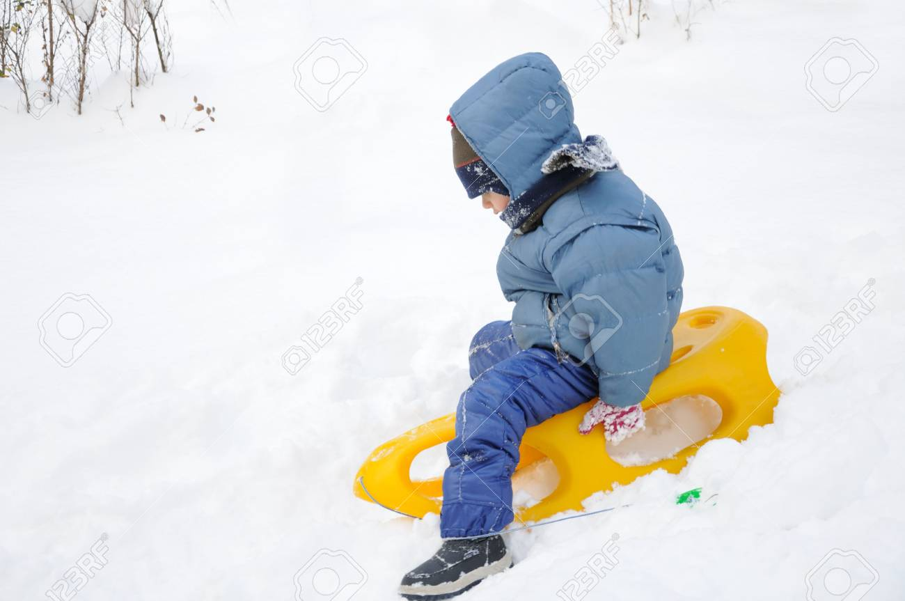Great activity on snow, children and happiness Stock Photo - 6105172