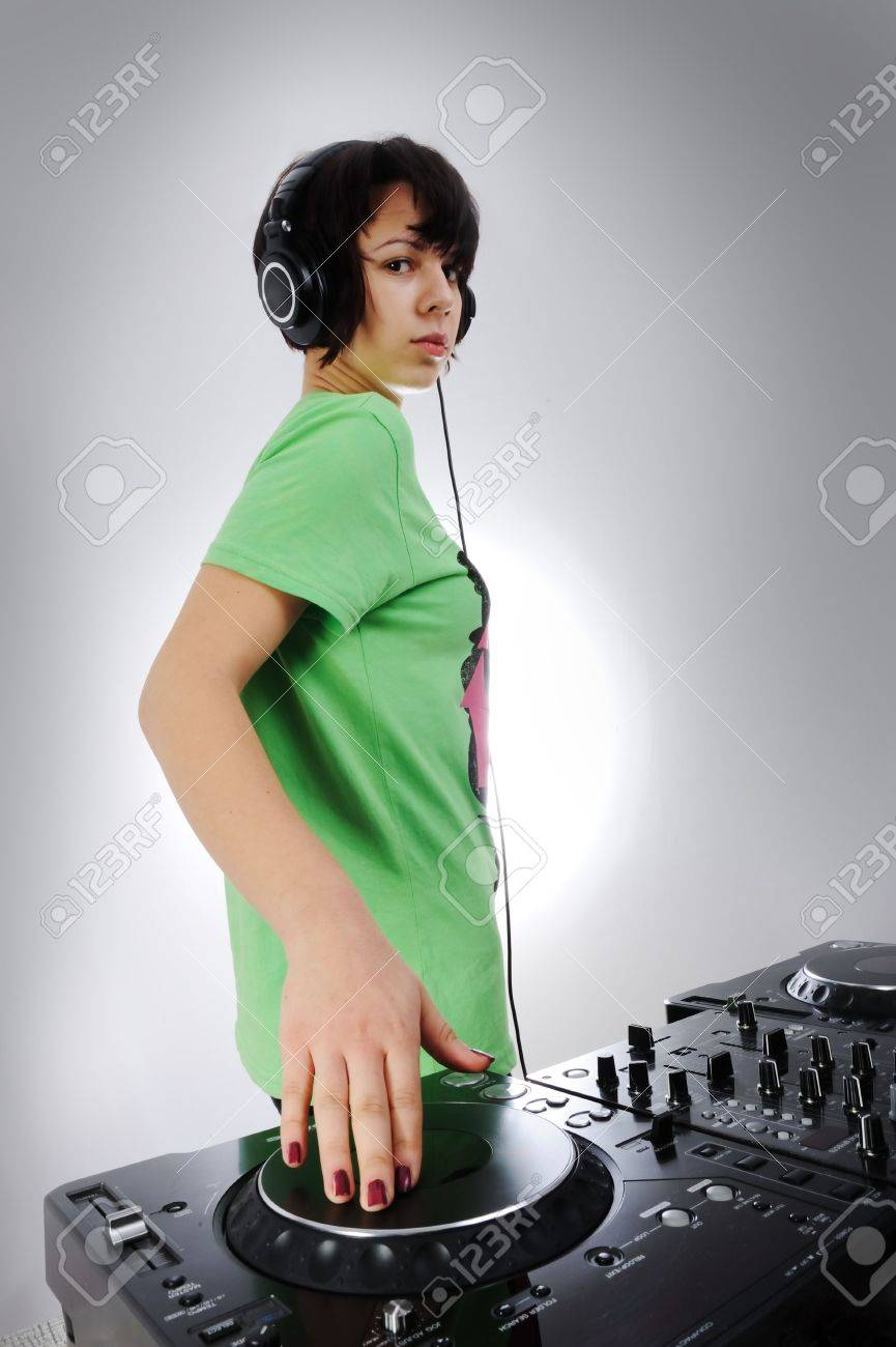 dj woman Stock Photo - 6325788