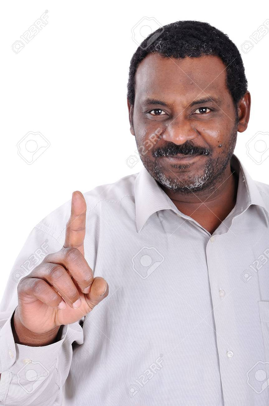 Handsome African American businessman pointing Stock Photo - 6516417