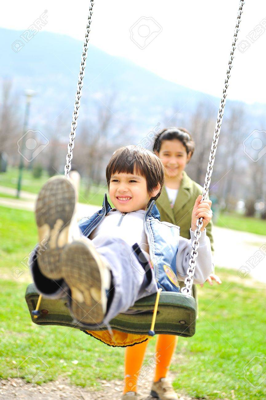 Playful ambient, happiness and joy outdoor Stock Photo - 6759172