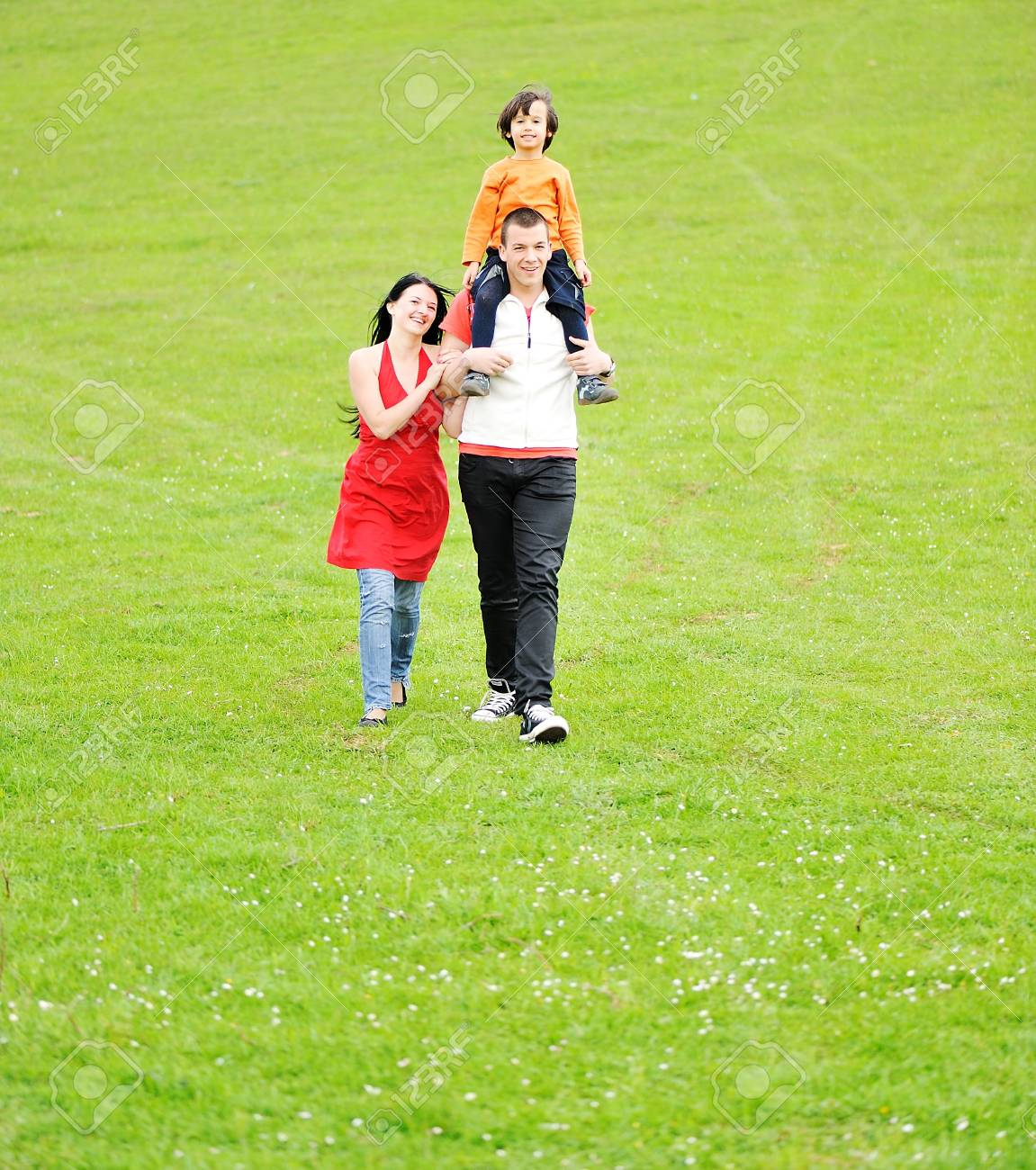 Happy people outdoor Stock Photo - 7012266