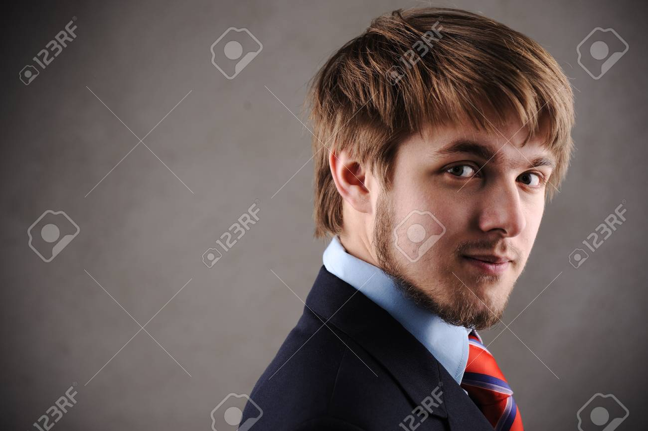 Profile of a handsome young blond man Stock Photo - 9208236