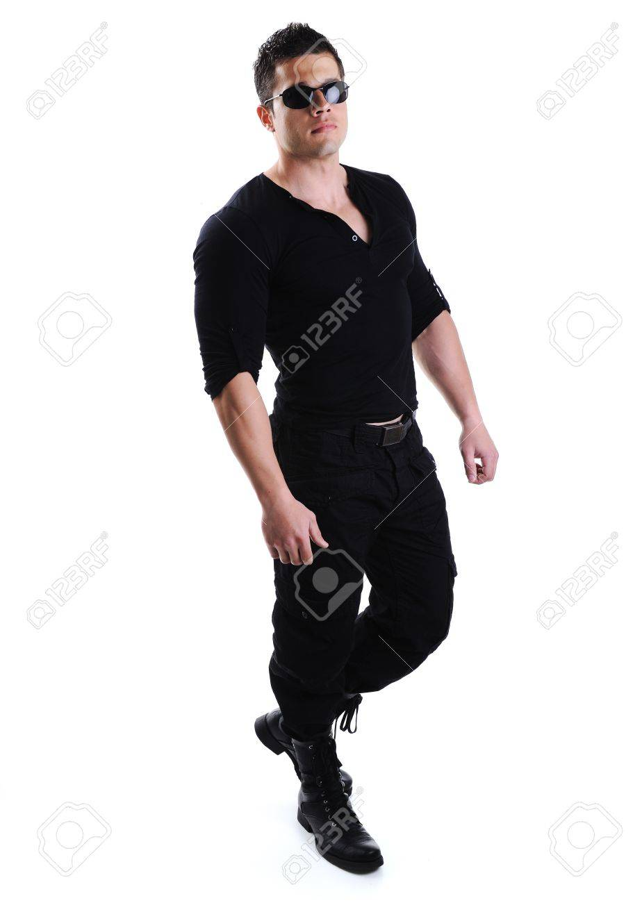 Elegant young handsome bodybuilder man with clothes on Stock Photo - 10316773