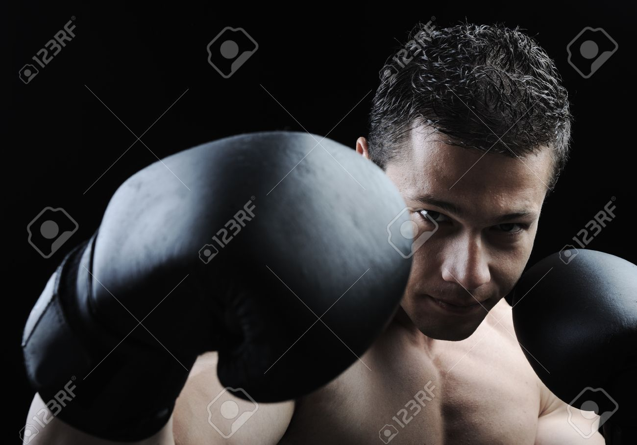 The Perfect male body - Awesome boxing fighter Stock Photo - 10316816