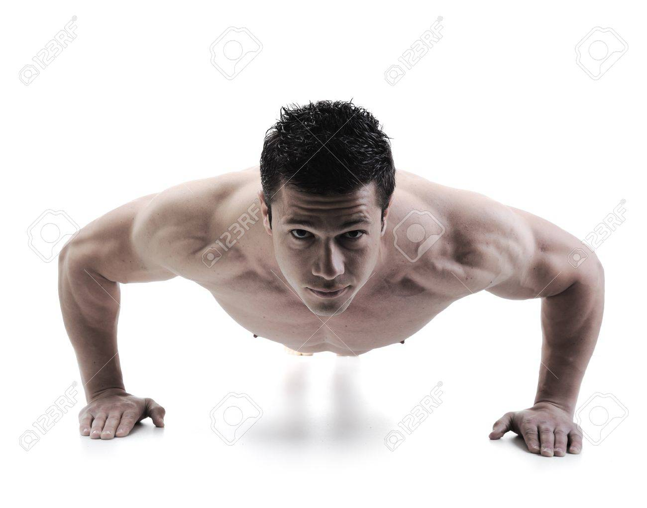 The Perfect male body - Awesome bodybuilder posing Stock Photo - 10316780