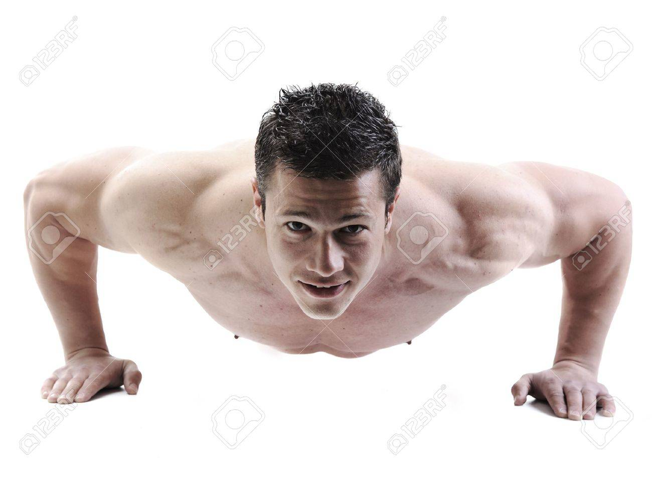 The Perfect male body - Awesome bodybuilder posing Stock Photo - 10316908