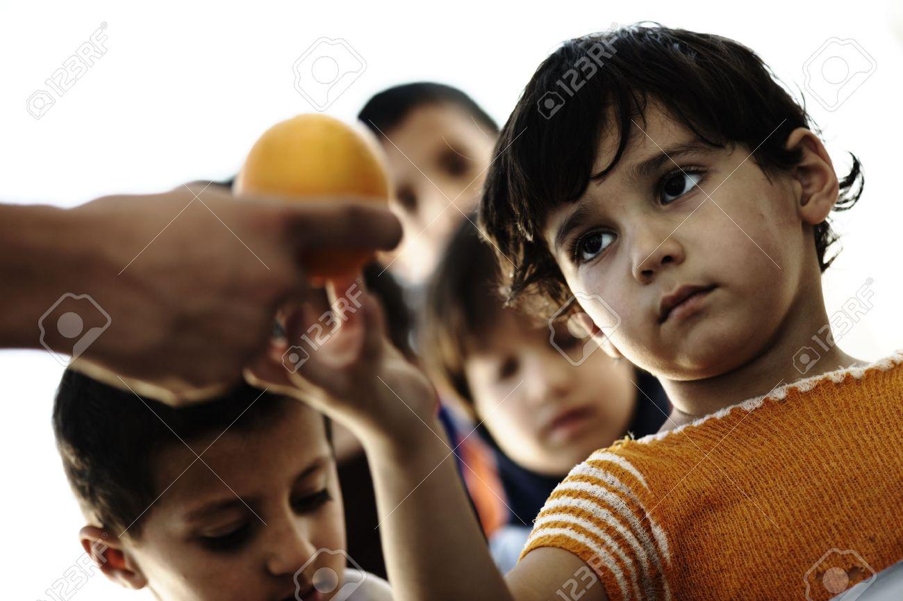 kids poor Stock Photo - poverty kids