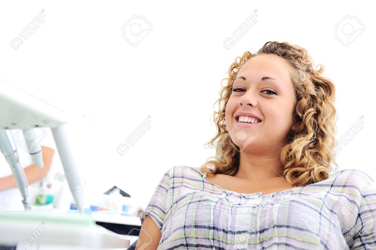Teeth checkup at dentist's office Stock Photo - 12627542
