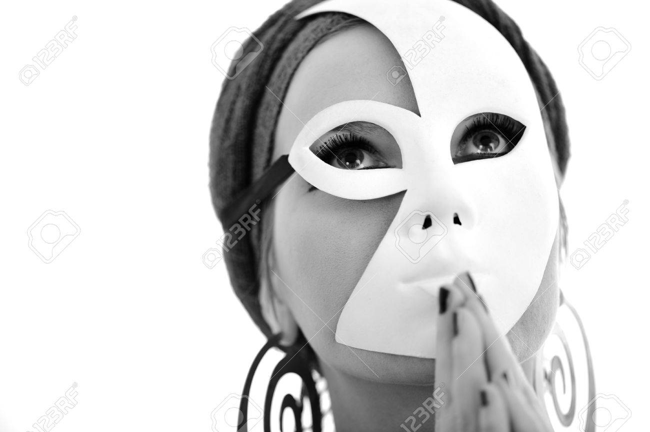 Woman with scarf and mask Stock Photo - 15666529