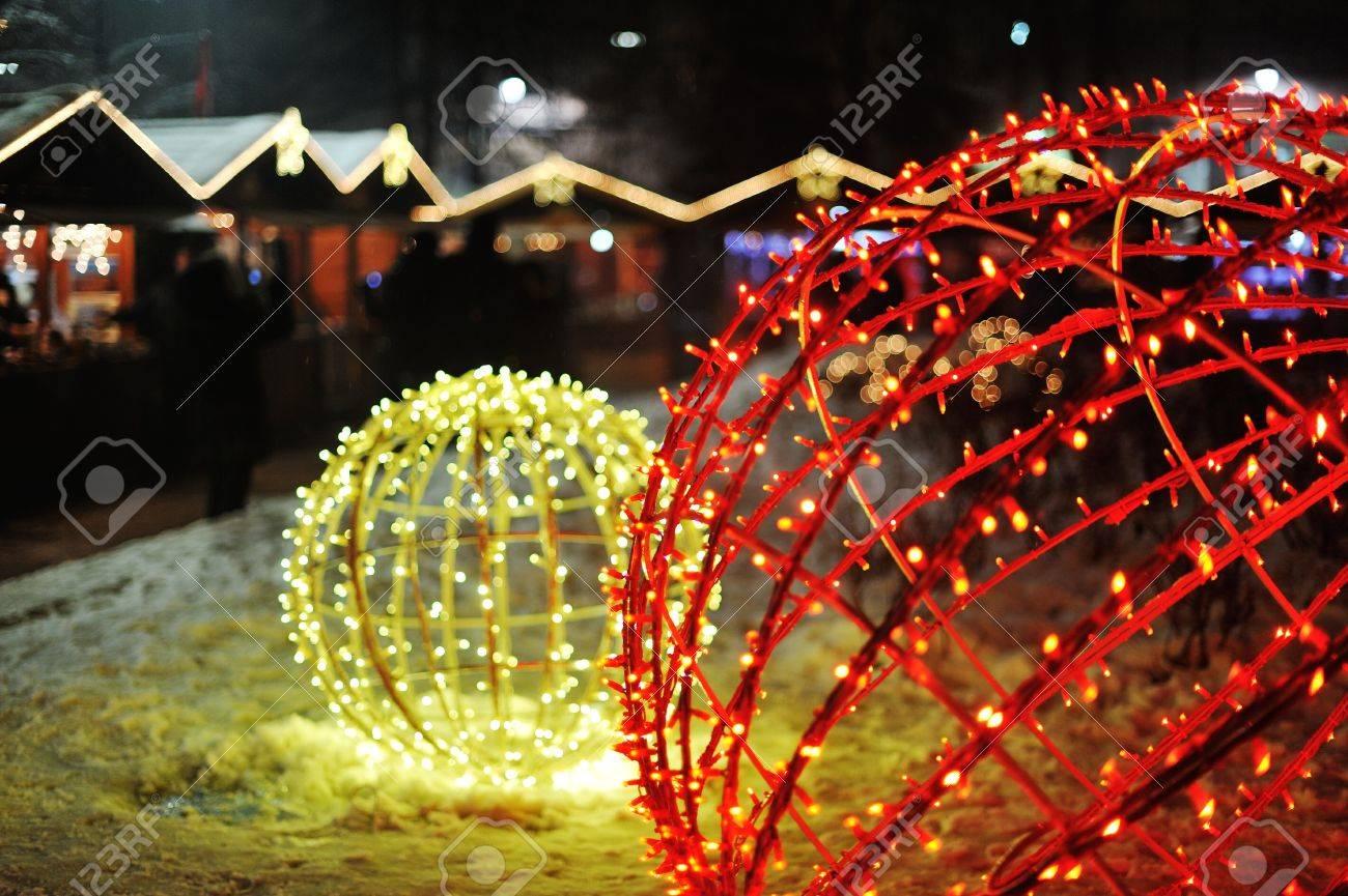 Night lights holiday - Night Lights At City For Celebrating Winter Holidays Stock Photo 16628284