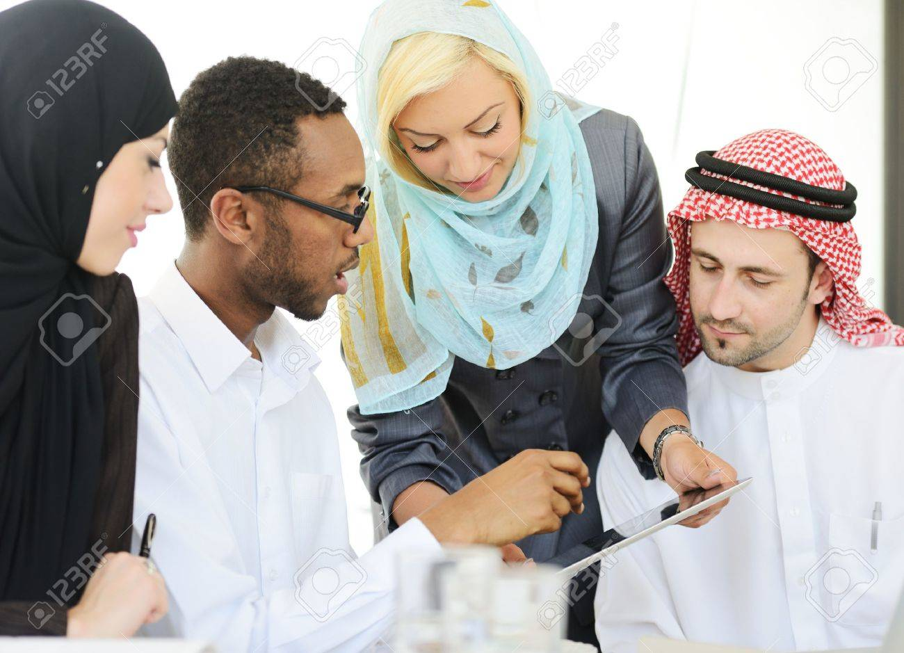 Arabic people having a business meeting Stock Photo - 18477267