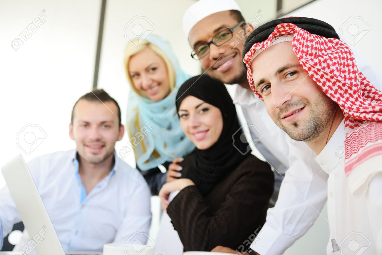 Group of Arabic business people at work Stock Photo - 18477274