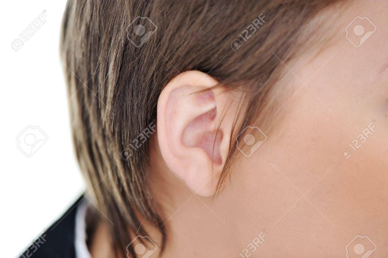 Female ear closeup Stock Photo - 18476166