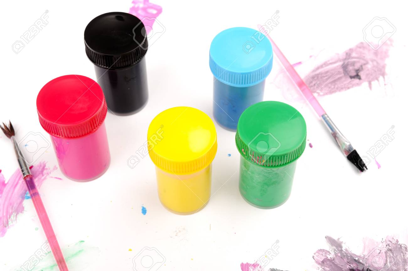 Cans of paint colors Stock Photo - 18477623