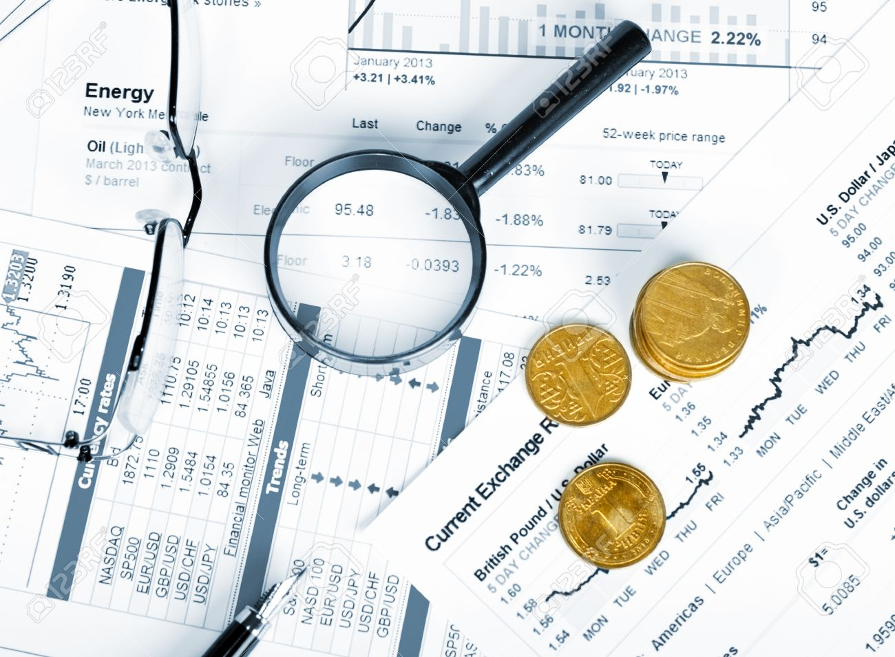 Business Of Financial Analytics Desktop With Accounting Charts ...