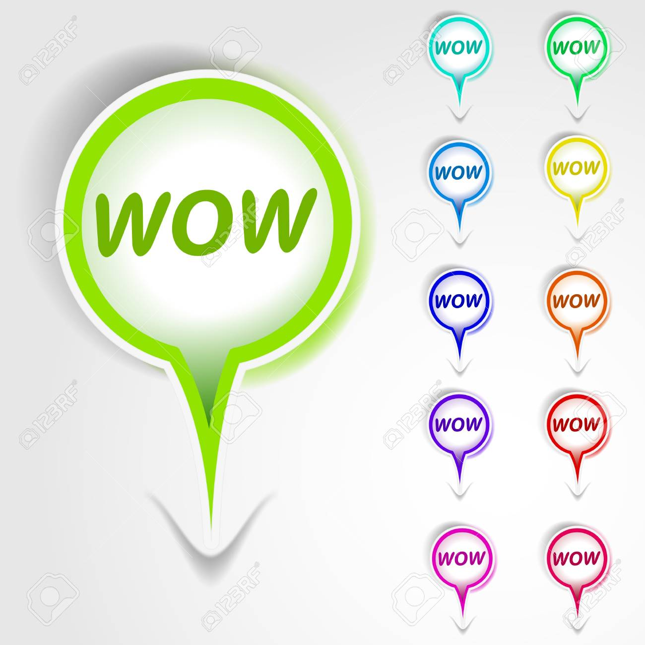 WOW banner tag Stock Vector - 12335926