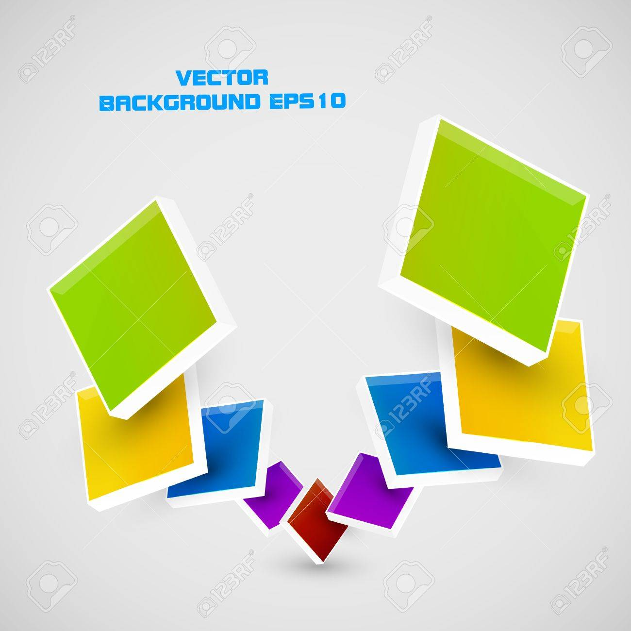 color cubes Stock Vector - 16658352
