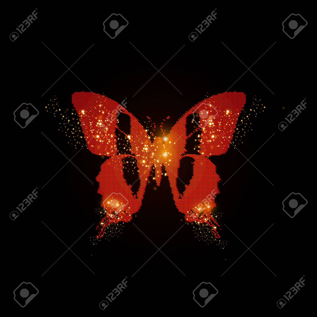 Greeting light card with paper butterfly, easy all editable Stock Vector - 20952143