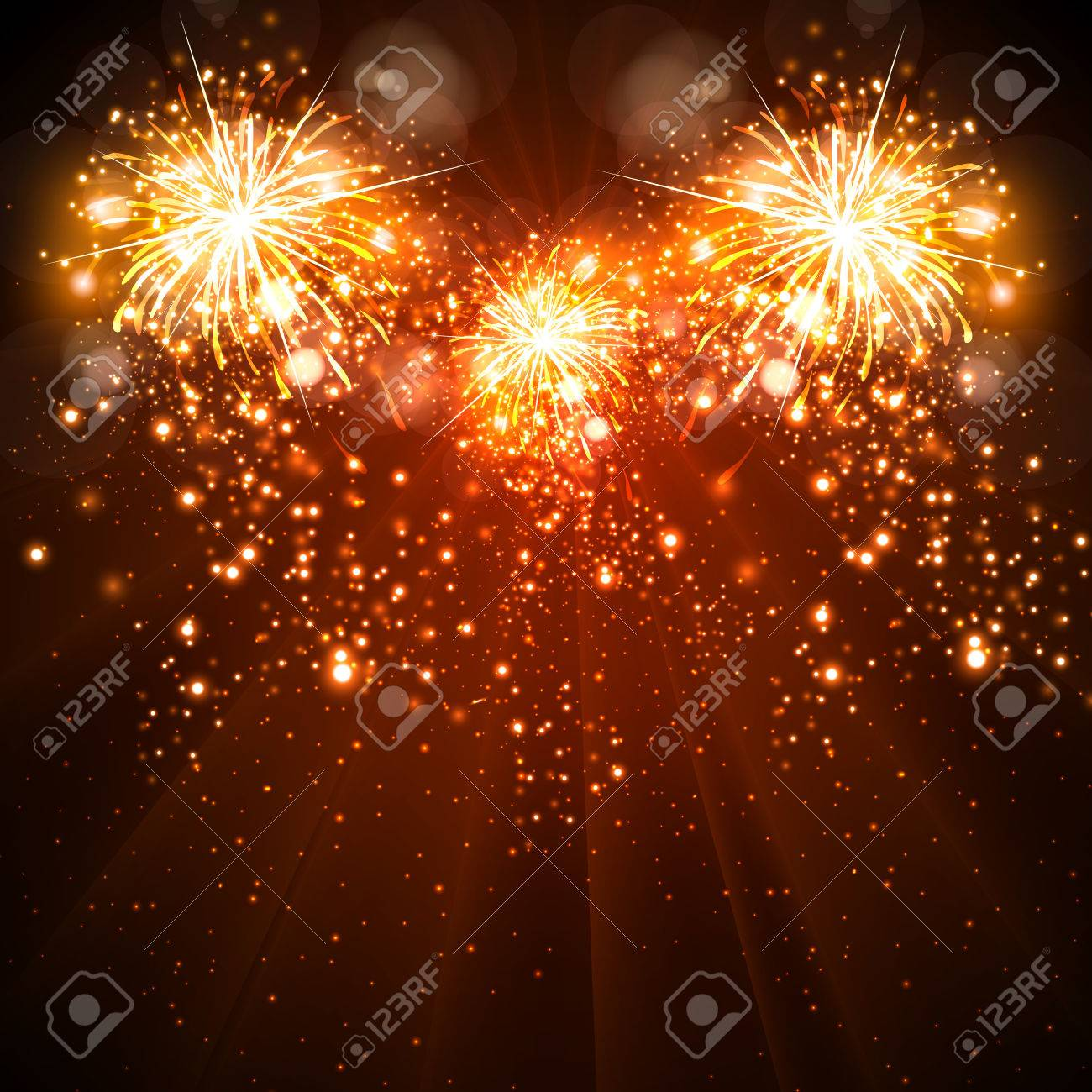 happy new year celebration background fireworks easy all editable stock vector 34159313
