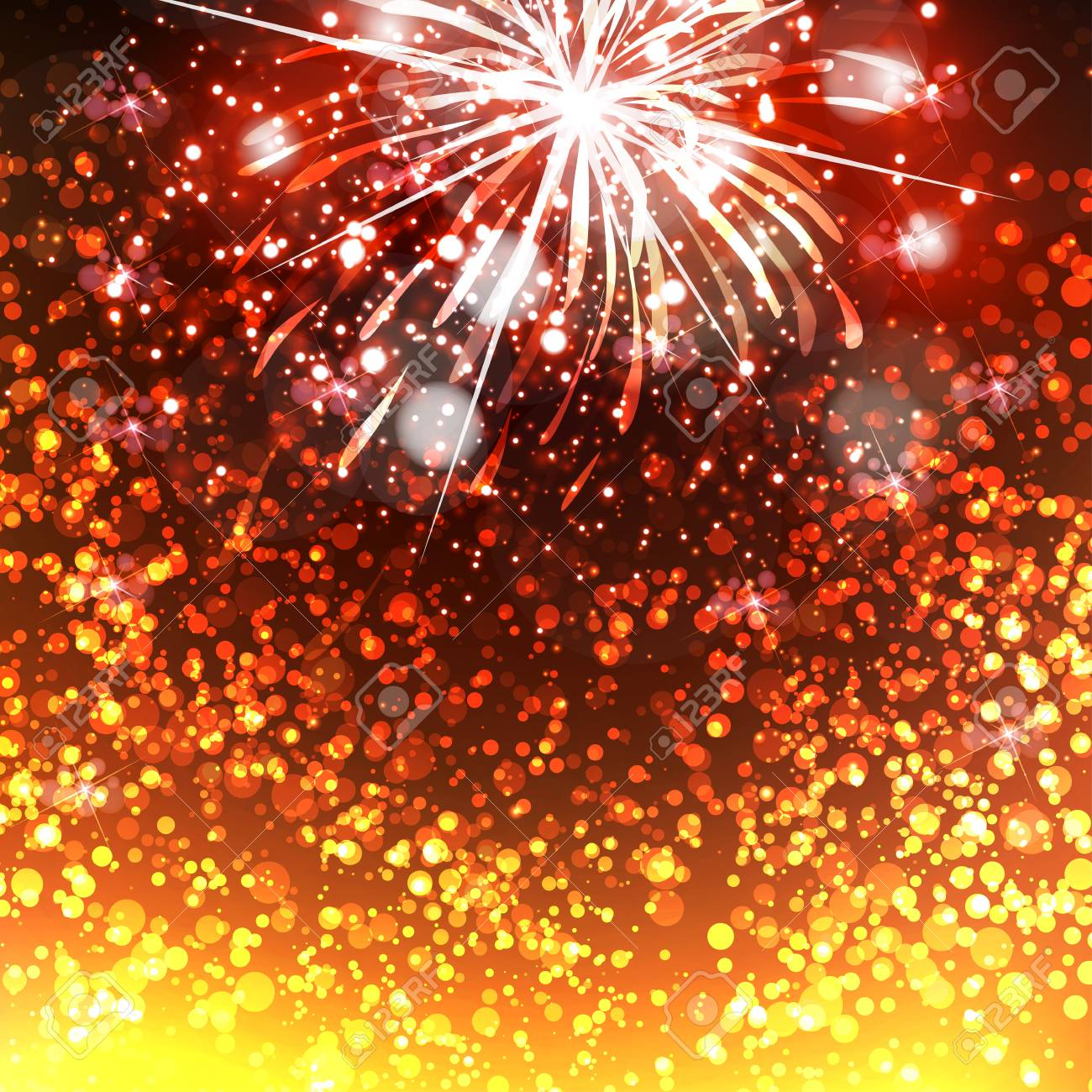 happy new year celebration background fireworks stock vector 49170657