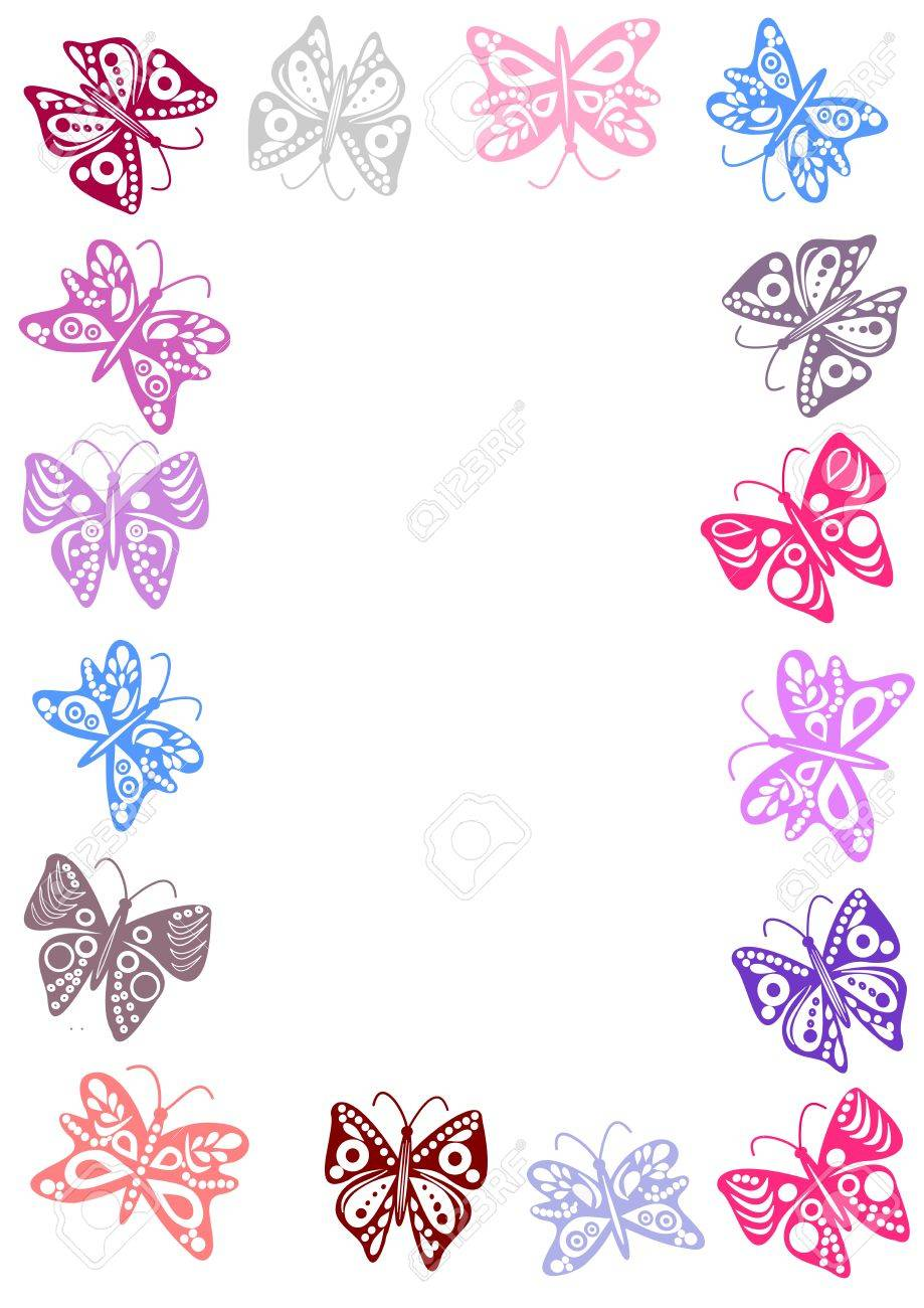 butterflies frame stock vector 6469486