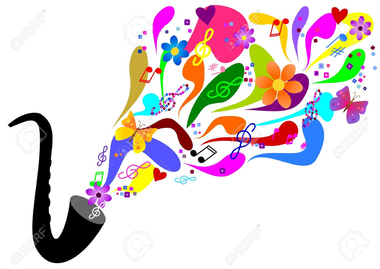 Sixties music - saxophone Stock Vector - 11674115