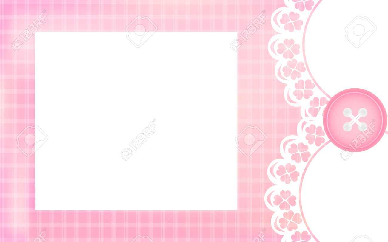 Baby Girl Shower Card Pink Background As Greeting Card For Newborn