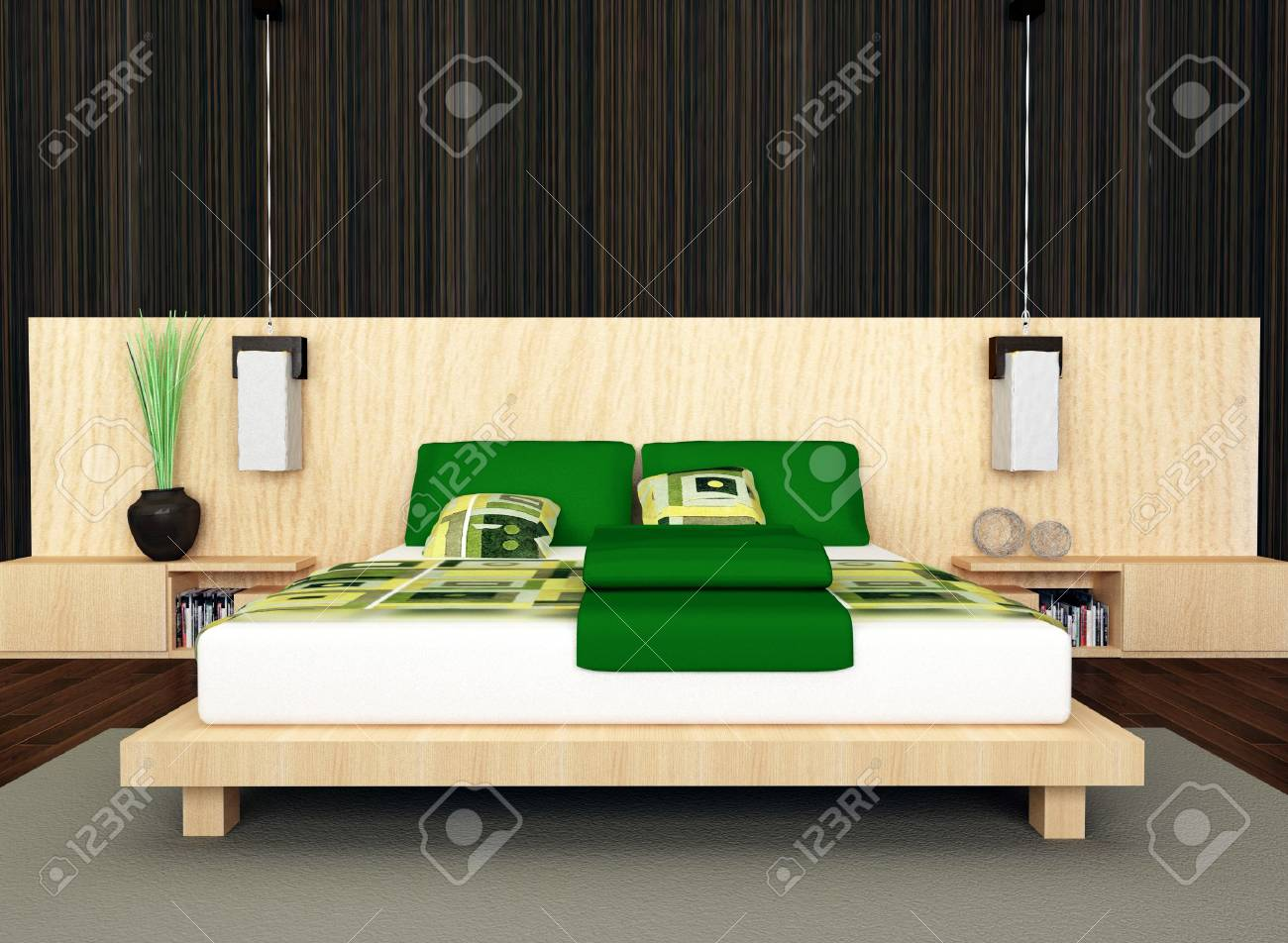 Modern bedroom Stock Photo - 6124988