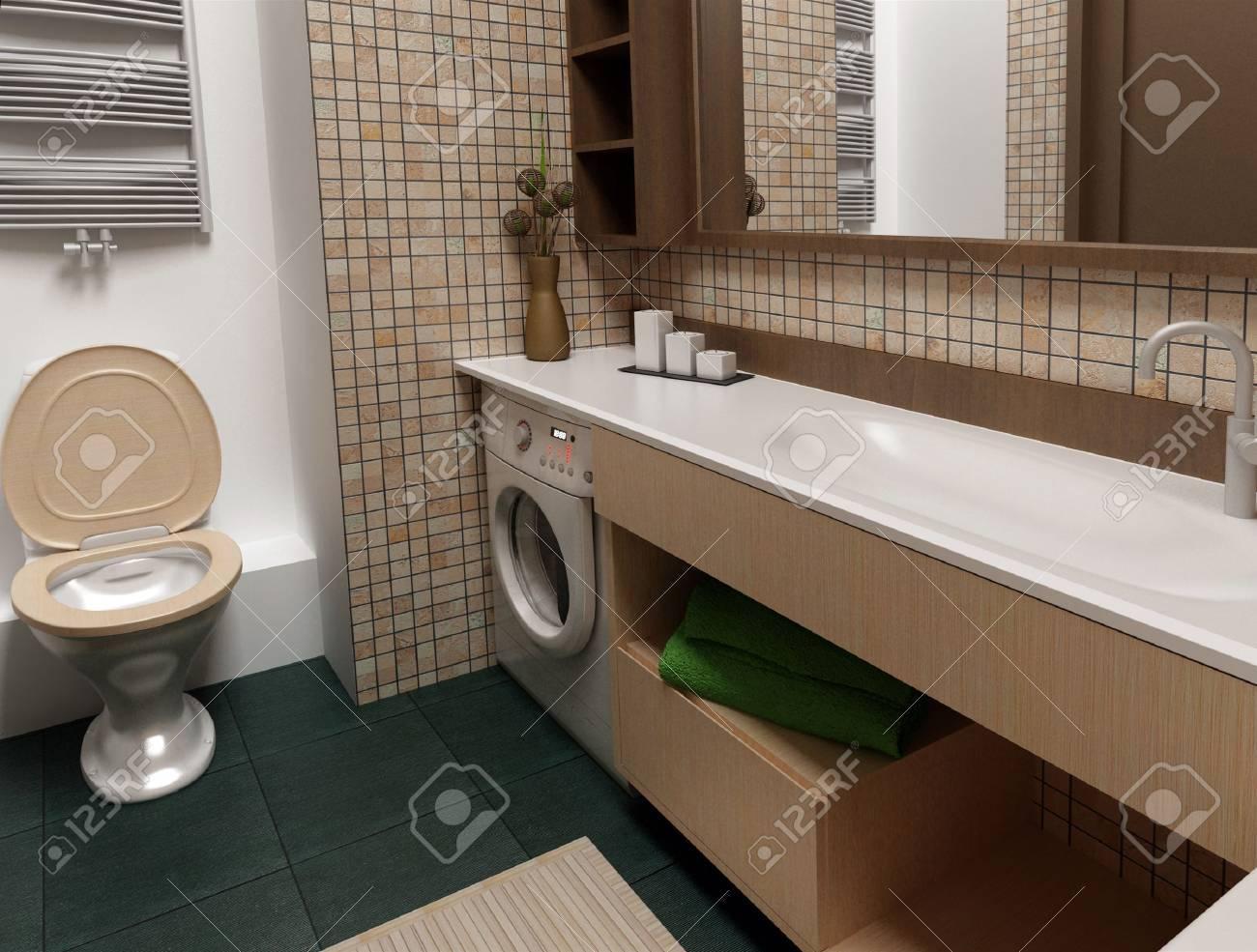Bathroom interior - 8113458